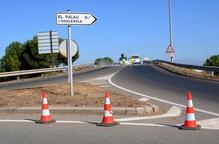 Tallat l'accés del Palau d'Anglesola a l'autovia per obres a la calçada