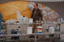 Minguell ultima un nou mural de 100 metres quadrats