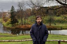 """Arnau Barios rep el guardó Ciutat de Barcelona per la seva traducció """"Eugeni Oneguin"""""""