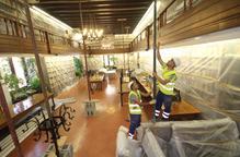 Les obres a la biblioteca de l'IEI.