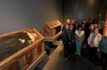 Caixes sepulcrals procedents de Sixena exposades al Museu de Lleida / SEGRE