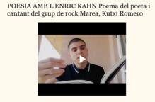 L'Enric recitarà un poema de Kutxi Romero