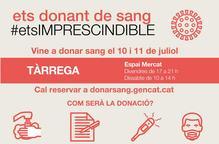 Nova campanya de donació de sang a Tàrrega