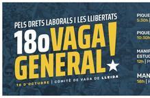 #VagaGeneral18O: L'equip de govern de la Paeria s'adhereix a la vaga general d'avui