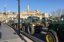 Tractorada històrica a Lleida en defensa del món rural