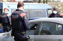 Control policial Mossos d'Esquadra