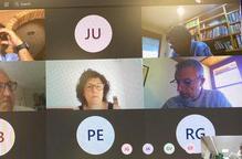 Imatge d'alguns dels participants en la reunió telemàtica per promoure una proposta per convertir Lleida en el pol d'innovació digital del sector agroalimentari de Catalunya