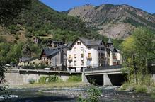 Pla general del poble de Llavorsí, al Pallars Sobirà
