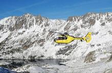 Helicòpter recerca SEM muntanya neu. Arxiu