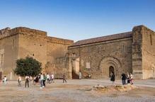 Pla general del Castell dels Templers de Gardeny de Lleida, amb alguns dels visitants que han visitat l'equipament durant les Jornades Europees de Patrimoni