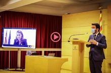 ⏯️ Aragonès defensa que la Generalitat és qui hauria de decidir el toc de queda a Catalunya
