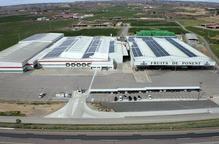 Vista aèria de les instal·lacions de Fruits de Ponent d'Alcarràs
