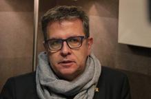 Pla curt on es pot veure al president de la Diputació de Lleida, Joan Talarn, entrevistat per l'ACN