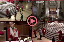 ⏯️ Diversos fidels assisteixen a la missa de Sant Anastasi de Lleida tot i no haver entrat a la fase 1