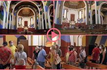 ⏯️ Primeres visites a l'església de Penelles, decorada per Berni Puig
