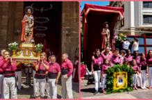 Els Castellers de Lleida homenatgen sant Anastasi en el seu dia