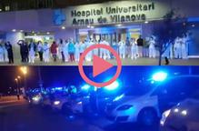 ⏯️ #VÍDEO | Policies lleidatans homenatgen el personal sanitari amb sirenes i aplaudiments