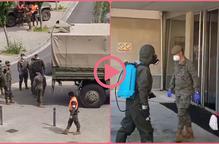⏯️ L'exèrcit desinfecta la residència Sant Josep de Lleida