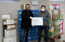 La Fecoll recapta 7.000 euros de colles, particulars i empreses per material sanitari