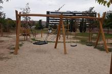 Completades les obres del nou parc infantil Joan Oró