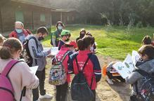 Grups d'escolars escullen cada curs el parc de la Mitjana per a fer activitats