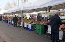 Guissona torna a permetre el mercat setmanal, amb parades de primera necessitat