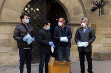 La comunitat xinesa de Lleida dóna 2.000 mascaretes a la Paeria