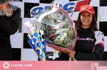 Ares Lahoz o una campiona d'Espanya en autocròs