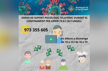 L'Alt Urgell posa en marxa una xarxa telefònica de suport psicològic
