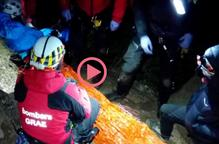 ⏯️ Tretze hores de rescat d'un escalador ferit a la Pobla de Segur