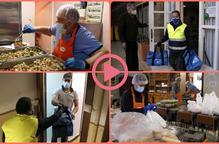 ⏯️ Reparteixen a Lleida àpats calents a famílies en situació de pobresa que han d'estar confinades