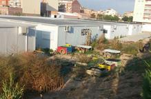 Les obres del nou edifici de l'escola de Pinyana, al maig