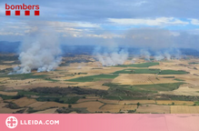 Una camió que circulava amb una roda punxada provoca 26 incendis agrícoles a la Noguera