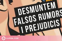 """Rellançament de la campanya """"Desmuntem falsos rumors i prejudicis"""" als mercats de la Noguera"""