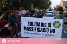 Tallen la C-14 a Belltall per denunciar la massificació eòlica que pateix l'Urgell
