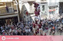 Els castellers de Lleida es tornen a enlairar per les Festes de la Tardor