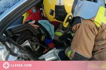 Ferides dues persones en un ccident a Tèrmens entre dos cotxes