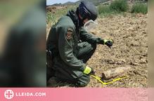 Destrueixen un projectil d'artilleria de la Guerra Civil trobat a  Artesa de Segre