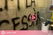 ⏯️ L'IEI de Lleida buscarà altres tècniques per acabar de netejar les pintades de la façana