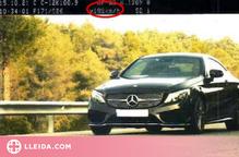 Denunciat penalment un conductor que circulava a 198 km/h per la C-12, a Maials