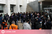 Concentració davant els Jutjats de Lleida