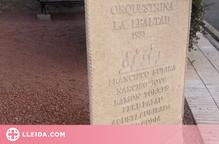 """Benavent del Segrià commemora l'orquestrina """"La Lealtad"""" amb un monòlit"""