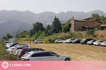 S'habilita un aparcament a Estana durant l'estiu destinada als visitants