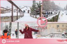 ⏯️ Lleida surt al carrer per gaudir de la neu