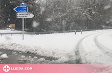 Dues carreteres afectades per la neu del temporal previst per avui