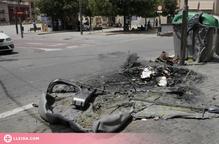 Condemnats dos menors per cremar 33 contenidors a Lleida la nit de Sant Joan de 2019