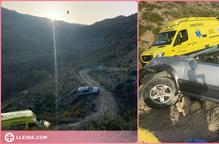Rescaten un conductor accidentat al Pallars Jussà