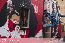El Lleida_potFest pren vida amb el seu primer mural participatiu