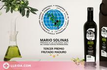 Nou premi internacional per l'oli d'oliva verge extra Les Cabanes de Juncosa