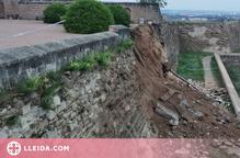 S'esfondra un tros de mur de la Seu Vella de Lleida